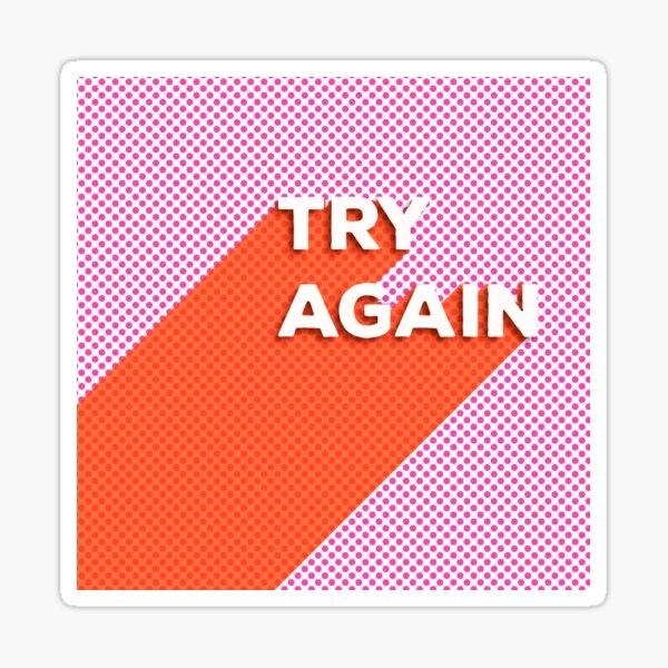 VERSUCHEN SIE WIEDER - Typografie Sticker