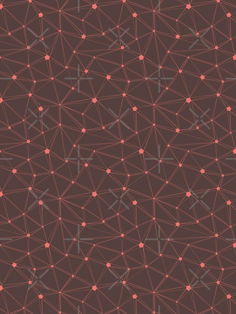 Pentagon grid chocolate brown by nobelbunt