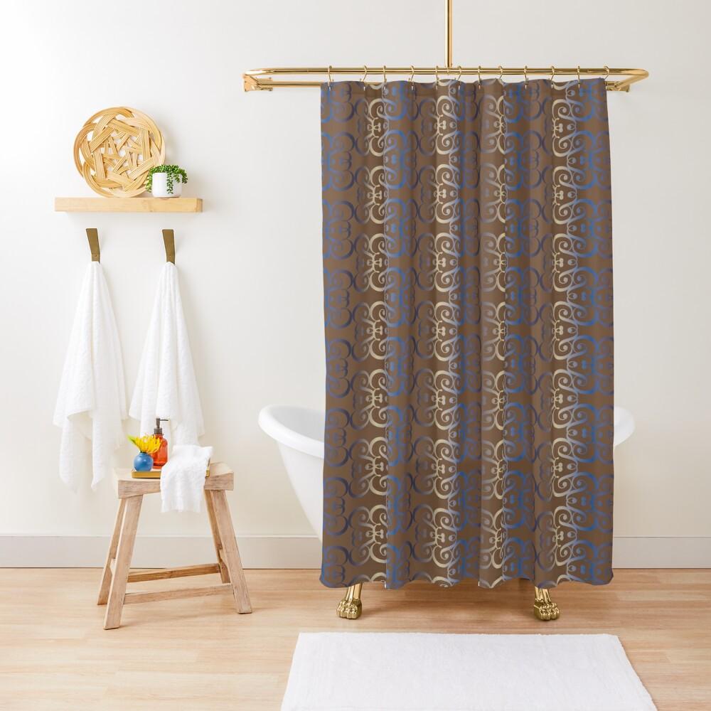 """Typographic elegant pattern """"&"""" Shower Curtain"""