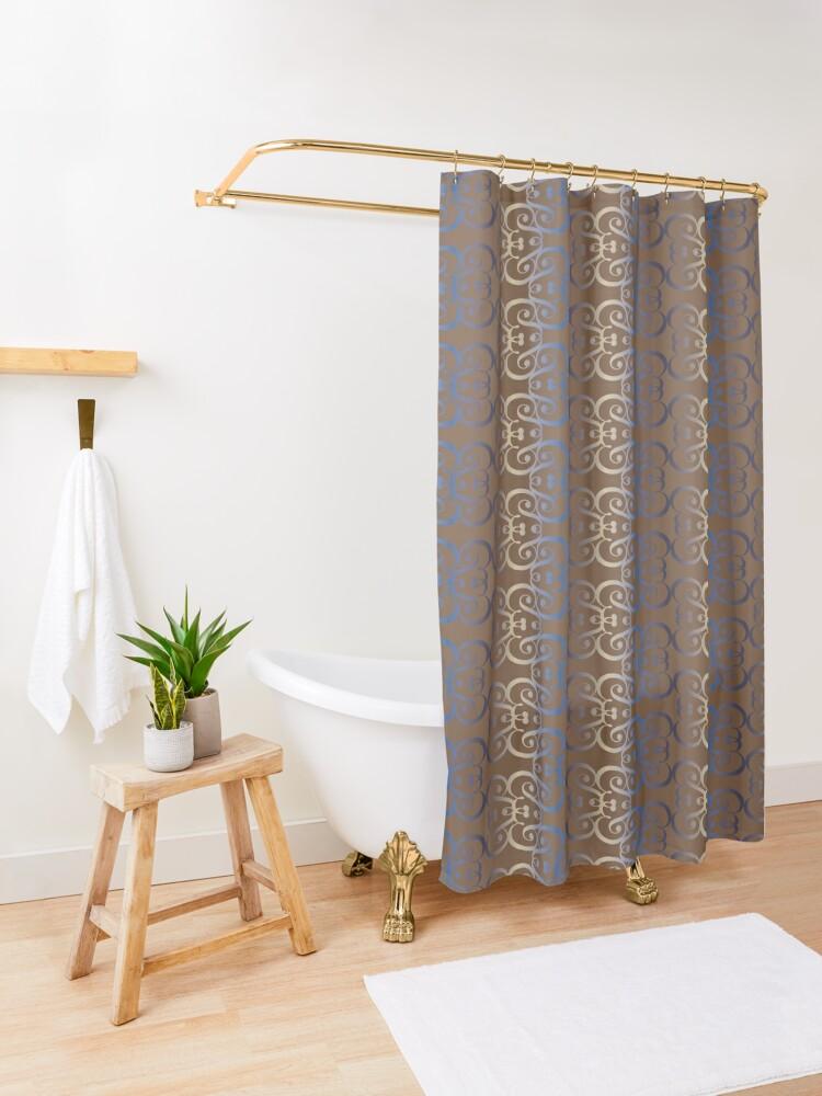 "Alternate view of Typographic elegant pattern ""&"" Shower Curtain"