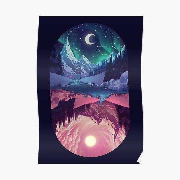 Upside down - night Poster