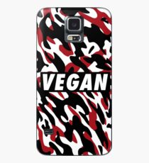Vegan - Red camouflage Case/Skin for Samsung Galaxy