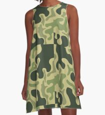 Vestido acampanado Camuflaje militar