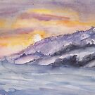winter landscape in watercolors -STAGE 1 by Anthropolog