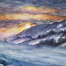 winter landscape in watercolors - final by Anthropolog