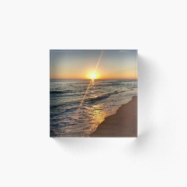 Florida Sunset, Panama City Beach, FL Acrylic Block