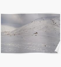 Snow Scene - The Lakes Poster