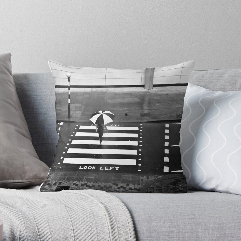 Zebra Crossing - London Throw Pillow