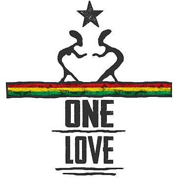 one love reggae von Periartwork