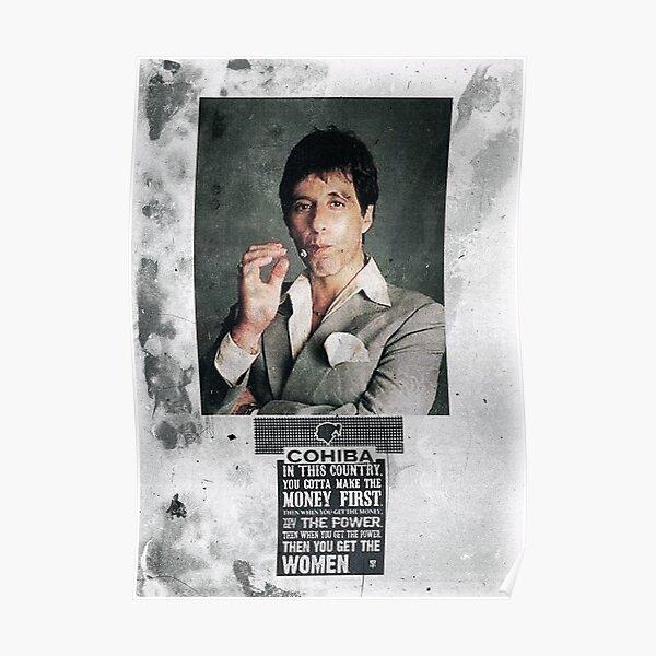 Cuban Cigar Tony Montana Poster