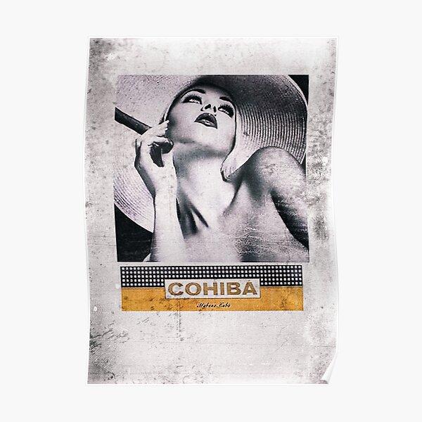 Cuban Cigar & Sexy lady Poster