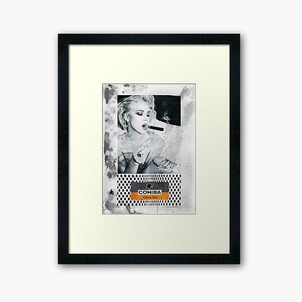 Cuban Cigar & Sexy lady Framed Art Print