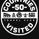 50 Countries Visited Travel T-Shirt by designkitsch