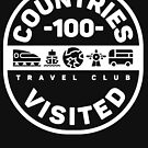 100 Countries Visited Travel T-Shirt by designkitsch