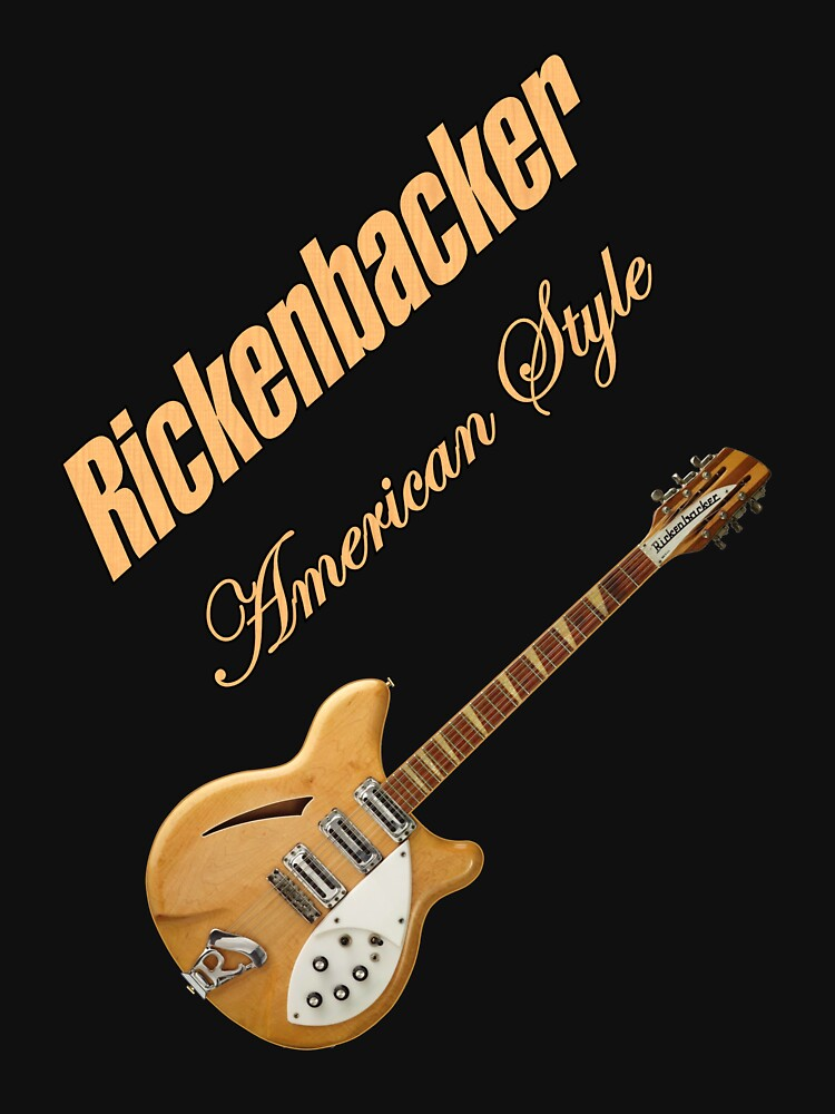 Rickenbacker Natural 12s American Style  | Unisex T-Shirt