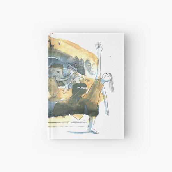 Aquarelle bleue et jaune de naples Carnet cartonné