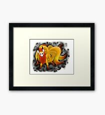 Nine-Tailed Kitsune (White Recommended.) Framed Print