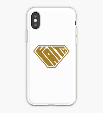 Faith SuperEmpowered (Gold) iPhone Case