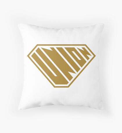Union SuperEmpowered (Gold) Throw Pillow