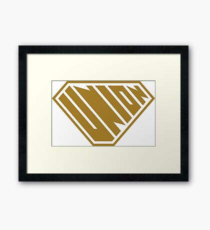 Union SuperEmpowered (Gold) Framed Art Print
