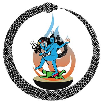 Nataraja illustration || cosmic dancer || Ananda Tandava dancing pose artwork || lord shiva minimalist by kartickdutta101
