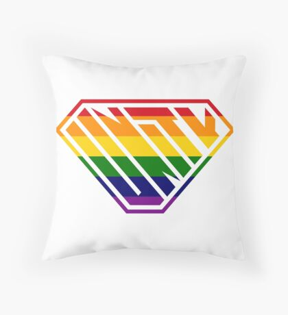 Unity SuperEmpowered (Rainbow) Throw Pillow