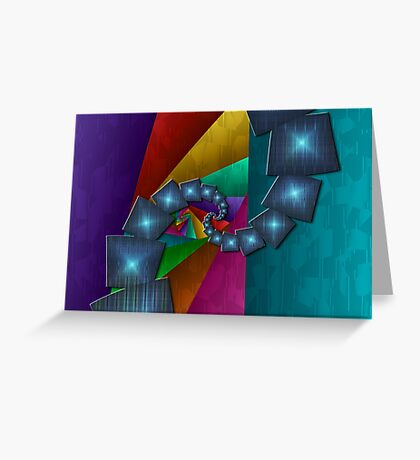 Fractal Cubism Christmas Greeting Card