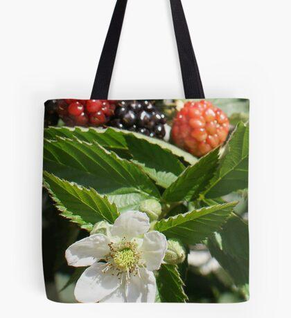 Yummy!  Black Rhapsody Blackberries La Mirada, CA USA Tote Bag