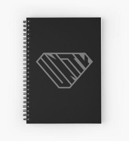 Unity SuperEmpowered (Black on Black) Spiral Notebook