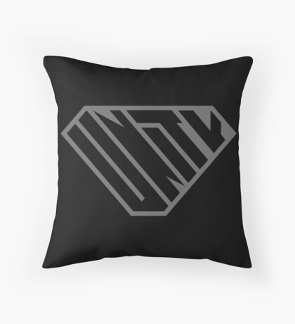 Unity SuperEmpowered (Black on Black) Throw Pillow