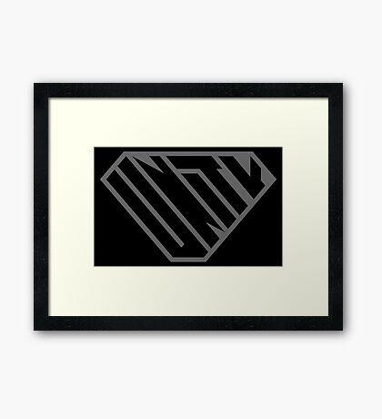 Unity SuperEmpowered (Black on Black) Framed Art Print