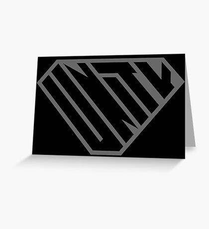 Unity SuperEmpowered (Black on Black) Greeting Card
