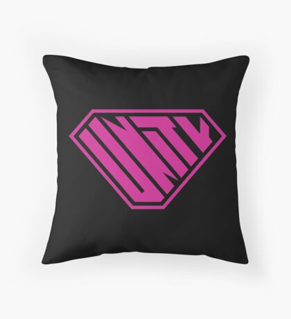 Unity SuperEmpowered (Pink) Throw Pillow