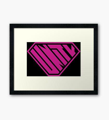 Unity SuperEmpowered (Pink) Framed Art Print