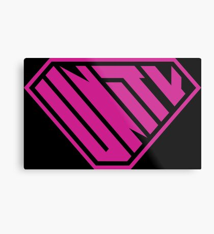 Unity SuperEmpowered (Pink) Metal Print