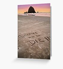 Goonies Greeting Card
