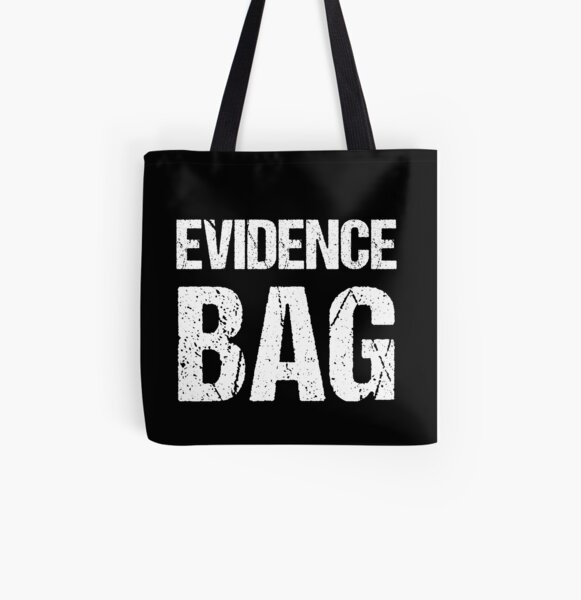 Evidence Bag Tote for True Crime Fan All Over Print Tote Bag