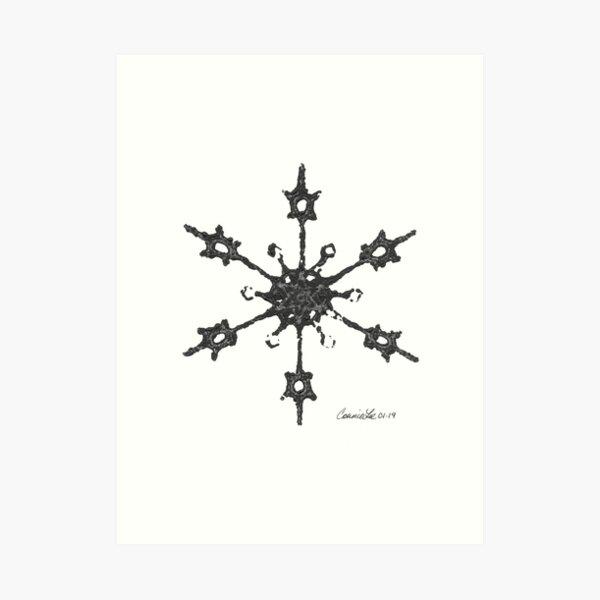 Crochet Impressions: SNOWFLAKE Art Print