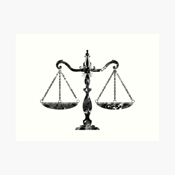 Scales of Justice Art Art Print