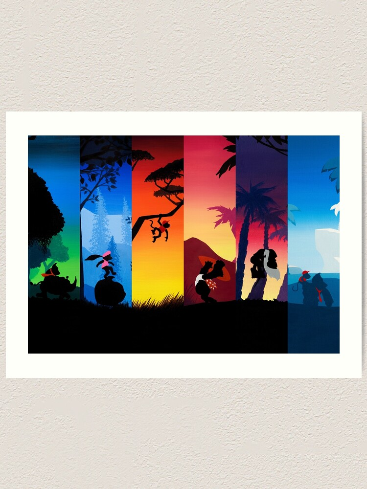 Alternate view of Hexaptych Silhouettes Art Print