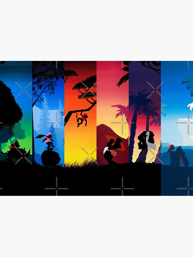Hexaptych Silhouettes by MalMakes