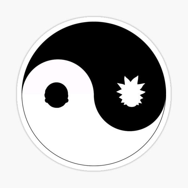 Yin & Yang Rick & Morty Sticker