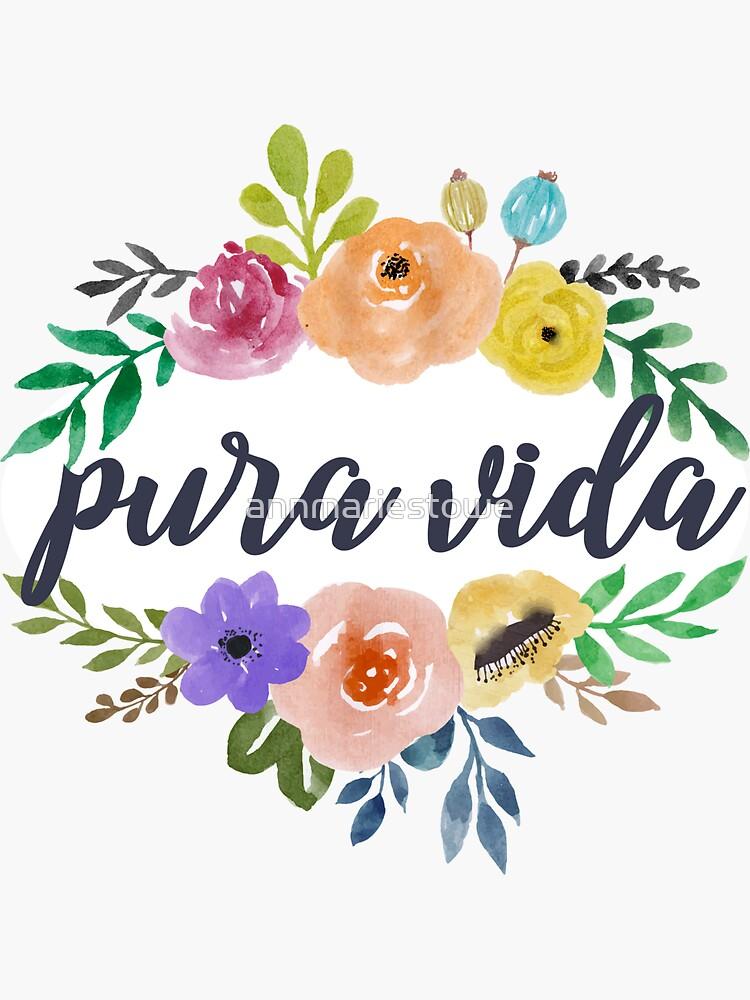 Pura Vida Top and Bottom Flowers by annmariestowe