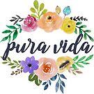 «Pura Vida Top and Bottom Flowers» de annmariestowe