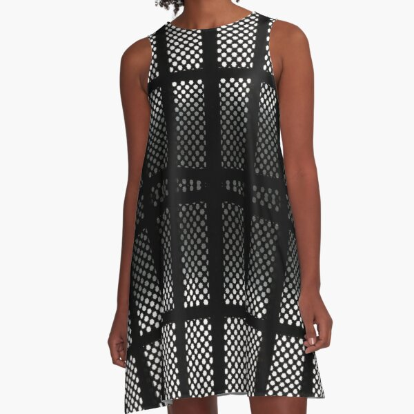 #textile, #pattern, #design, #plaid, #repeat, #repetition, #tablecloth, #tile A-Line Dress