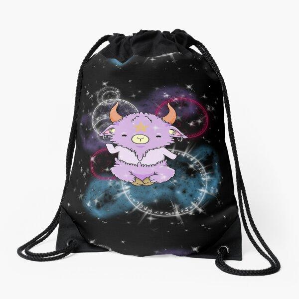 Kawaii space Baphomet Drawstring Bag