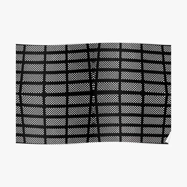 #Design #Tile #Pattern #Square Grid Repetition Textile Repeat Poster