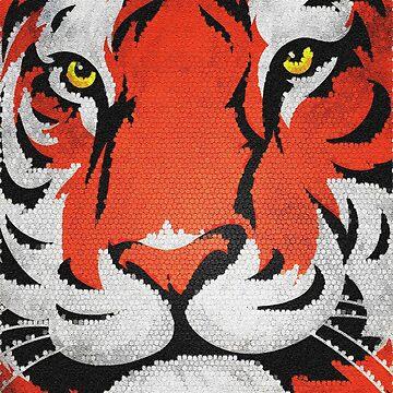 Tiger Face, Cat Art by MDAM