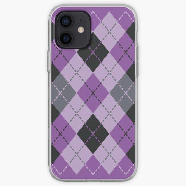 Purple Argyle iPhone Soft Case
