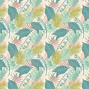 Tropical Leaves Pattern by heartlocked